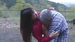 Asian Girl Getting Pussy Licked And Fucked By Old Man Cum To Ass Outdoor - 9:00