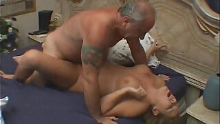 Cuckold Horny blonde Chick Fucked By Old Rich Guy - 5:00