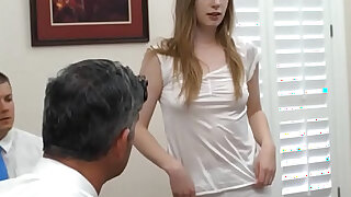 Cute blonde gets deflowered by an older british dude - 6:00