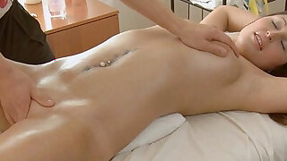 Nymph mixes massage and sex scene - 7:00