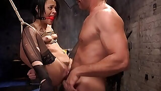 Slave suffers rough anal sex in bondage - 5:00