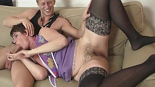 Her hairy pussy drilled by stiff young cock - 6:00