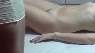 Two 19yo chicks show their wet pussies at the CASTING - 14:00