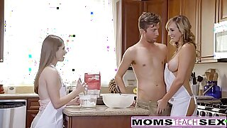 Blonde Teen Threesome With Dick for Mom - 8:45